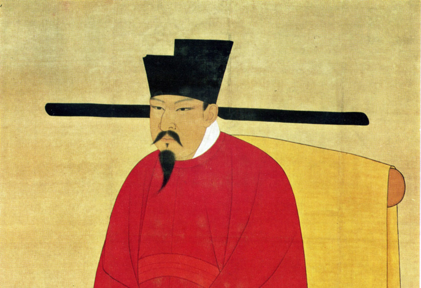 <em>A scroll painting of the Emperor Shenzong of the Song Dynasty (960-1279 CE), noted for its cultural flowering and economic achievement.</em> Courtesy Wikimedia Commons.
