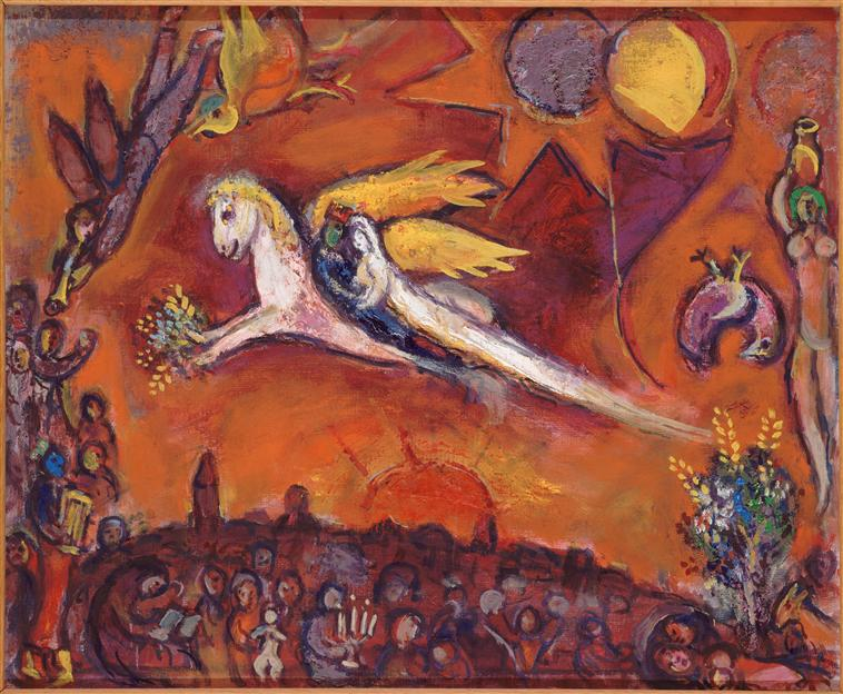 Song of Songs IV by Marc Chagall. Courtesy Wikipaintings.