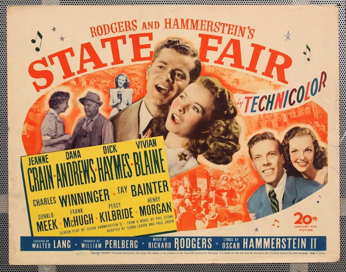 Poster for State Fair, the 1945 Rodgers and Hammerstein musical.