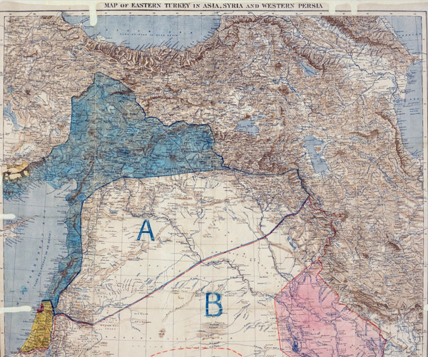 The 1916 Sykes-Picot Agreement—not actually collapsing.